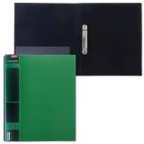 Папка 2 кольца HATBER, 25мм, WOOD-зелёная, до 120 листов, 0,9мм, 2AB4_02207(V168011)