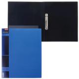 Папка 2 кольца HATBER, 25мм, WOOD-голубая, до 120 листов, 0,9мм, 2AB4_02225(V168004)